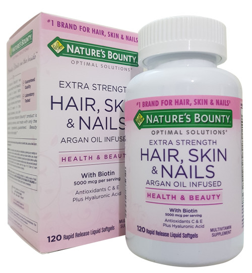 Nature's Bounty Extra Strength Hair, Skin & Nails with Biotin 120 Softgels Buy online in Pakistan on Saoni.pk