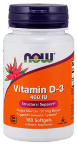 NOW FOOD Vitamin D3 400IU -180 Softgels lowest price in pakistan
