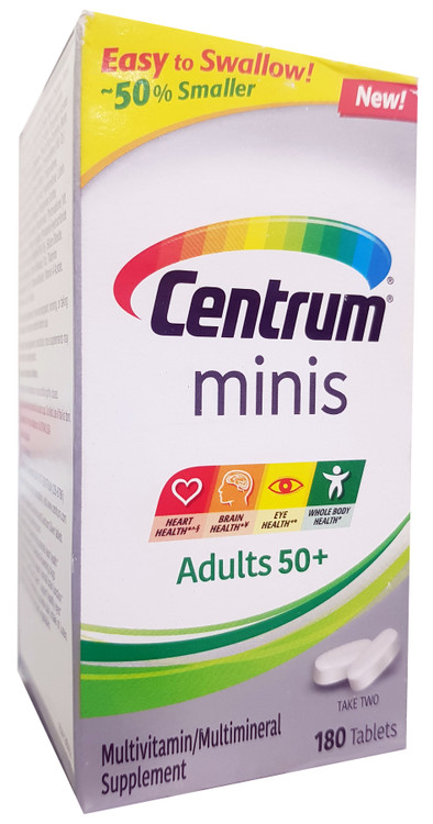 Centrum Minis Adults 50+ Multivitamin/ Multimineral Supplements- 180 Tablets buy online in pakistan