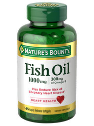 Nature's Bounty Fish Oil 1000mg Plus Omega 3 (145 Softgels) Buy online in Pakistan on Saloni.pk