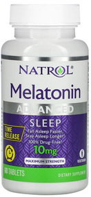 Natrol Melatonin 10mg Advanced Sleep 60 Tablets buy online in pakistan