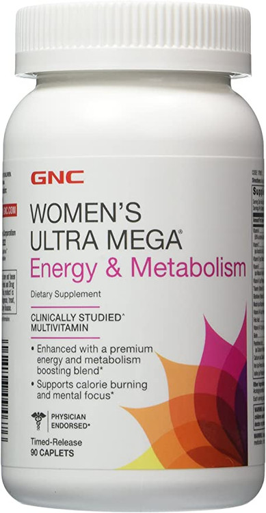 GNC Women's Ultra Mega Energy & Metabolism 90 Caplets buy online in pakistan