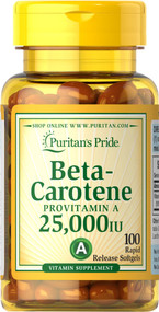 Puritan's Pride Beta-Carotene 25,000 IU - 100 Softgels buy online in pakistan