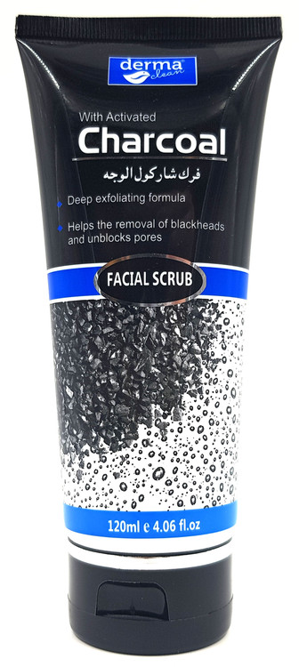 Buy Derma Clean Charcoal Facial Scrub 120 ML online with best prices in Pakistan