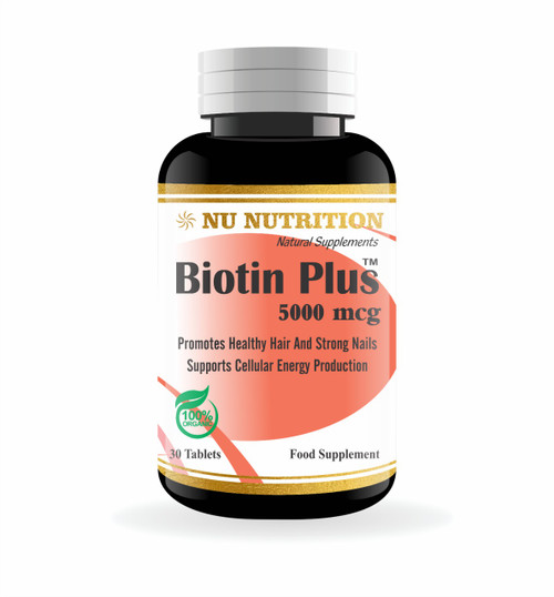 Buy Nu Nutrition Biotin Plus 5000 mcg 30 Tablets with best prices in Pakistan from Saloni.pk