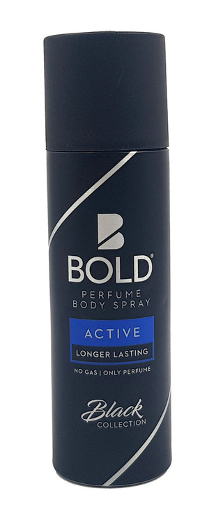 Bold Black Collection ( Active ) Longer Lasting Perfumed Body Spray - 120ml Buy online in Pakistan on Saloni.pk