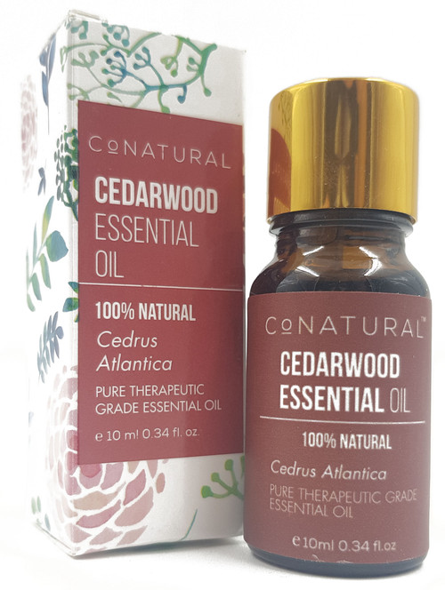 CoNatural 100% Natural Cedarwood Essential Oil 10ml Buy online in Pakistan on Saloni.pk
