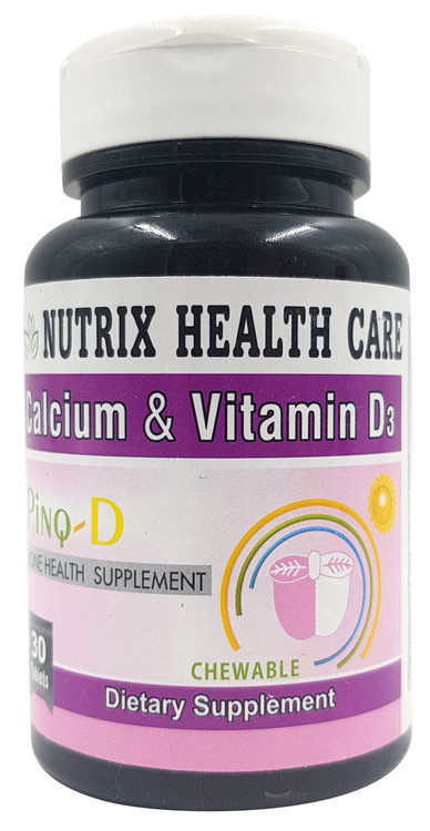 Nutrex Health Care Calcium & Vitamin D3- 30 Chewable Tablets Buy online in Pakistan on Saloni.pk