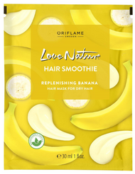 Oriflame Love Nature Hair Smoothie Replenishing Banana Hair Mask for Dry Hair - 30ml Buy online in Pakistan on Saloni.pk
