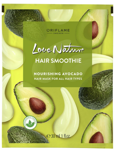 Oriflame Love Nature Hair Smoothie Nourishing Avocado Hair Mask for All Hair Types - 30ml Buy online in Pakistan on Saloni.pk