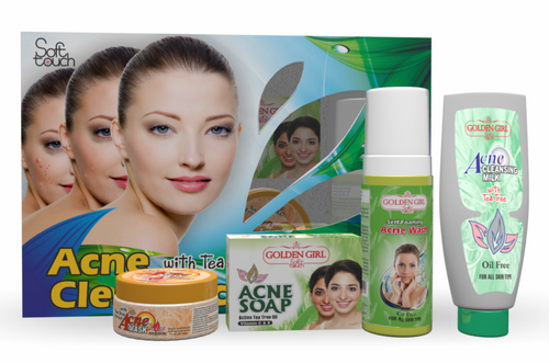Golden Girl Soft Touch Acne Clear Facial Kit - 4 items Buy online in Pakistan on Saloni.pk