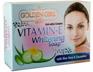 Soft Touch Vitamin-E Whitening Soap, With Aloe Vera & Cucumber- 115g Buy online in Pakistan on Saloni.pk