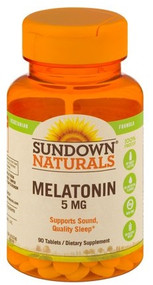 Sundown Naturals Melatonin 5mg - 90 Tablets Buy online in Pakistan on Saloni.pk