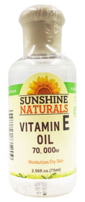 Sunshine Naturals Vitamin E Oil 70,000IU 75ml buy online in pakistan