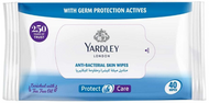 Yardley Protect & Care Anti-Bacterial Skin Wipes - 40 Wipes Buy online in Pakistan on Saloni.pk