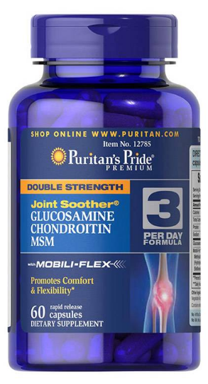 Puritan's Pride Joint Soothe Double Strength Glucosamine Chondroitin MSM - 60 Caplets  Buy online in Pakistan on Saloni.pk