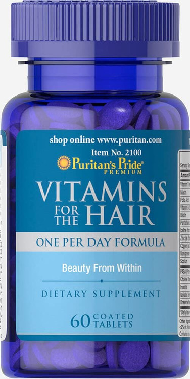Puritan's Pride Vitamins for The Hair - 60 Coated Tablets Buy online in Pakistan on Saloni.pk