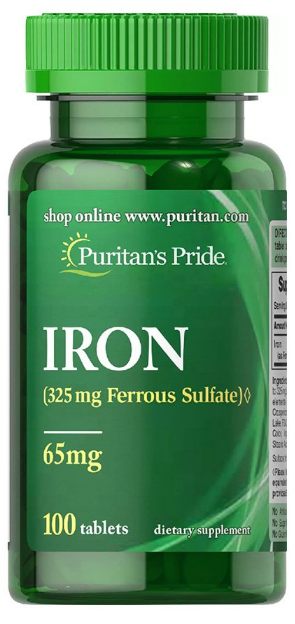 Puritans Pride Iron 65mg - 100 Tablets Buy online in Pakistan on Saloni.pk