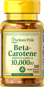Puritan's Pride Beta-Carotene 10,000 IU - 100 Softgels Buy online in Pakistan on Saloni.pk