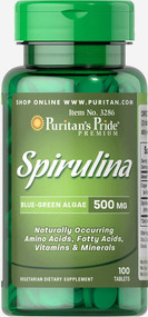 Puritan's Pride Spirulina 500 mg-100 Tablets Buy online in Pakistan on Saloni.pk