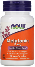 Now Foods Melatonin 3mg - 60 Capsules Buy online in Pakistan on Saloni.pk