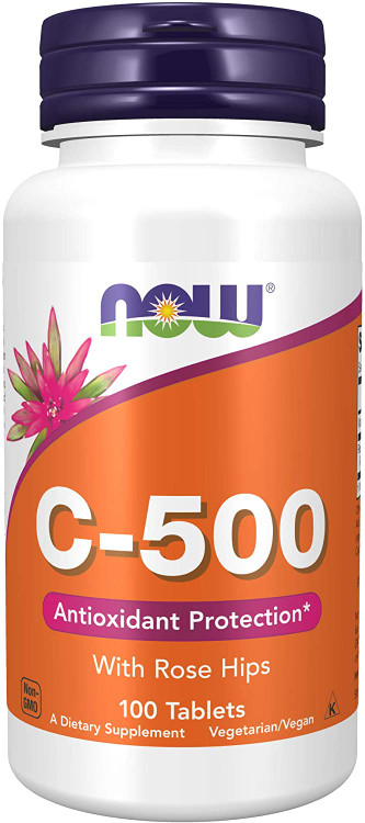 Now Foods Vitamin C-500 With Rose Hips - 100 Tablets Buy online in Pakistan on Saloni.pk