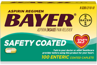 Bayer Aspirin Regimen Safety Coated 325mg - 100 Coated Caplets Buy online in Pakistan on Saloni.pk