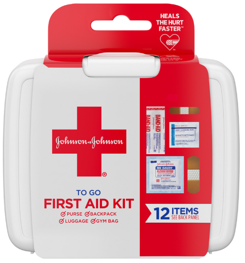 Band Aid Johnson & Johnson First Aid To Go Kit (Pack of 12 Items) Buy online in Pakistan on Saloni.pk
