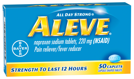 Aleve Pain Reliever Fever Reducer 220mg - 50 Caplets Buy online in Pakistan on Saloni.pk