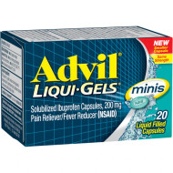 Advil Liqui-Gels Minis Pain Reliever  Fever Reducer 200mg - 20 Capsules Buy online in Pakistan on Saloni.pk
