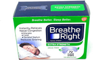 Breathe Right Nasal Strips, Extra Clear for ( Sensitive Skin ) -72 Clear Strips Buy online in Pakistan on Saloni.pk