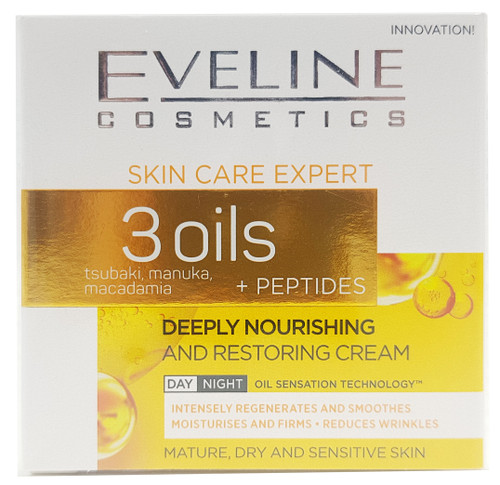 Eveline Skin Care Expert 3 Oils Deeply Nourishing and Restoring Day and Night Cream - 50ml Buy online in Pakistan on Saloni.pk
