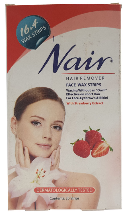 Nair Hair Removers Body Wax Strips with Strawberry 20 Strips