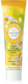 Eveline Glycerine Bio  Chamomile Oil Hands & Nails Nourishes Collagen 48H 3 in 1 Cream - 100 ml Buy online in Pakistan on Saloni.pk