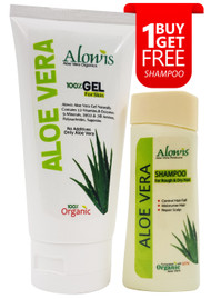 Alowis Organic Aloe Vera Skin Food Gel 200ML with Free Shampoo on saloni.pk