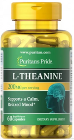 Puritan's Pride L-Theanine 200 mg - 60 Rapid Capsules Buy online in Pakistan on Saloni.pk