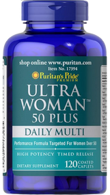 Puritan's Pride Ultra Woman 50 Plus Multi-Vitamin - 120 Caplets Buy online in Pakistan on Saloni.pk