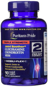 Puritan's Pride Triple Strength Joint Soother Glucosamine Chondroitin Msm - 90 Coated Caplets  Buy online in Pakistan on Saloni.pk