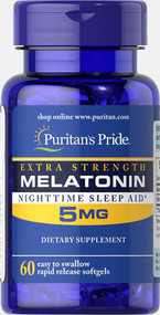 Puritan's Pride Extra Strength Melatonin 5mg - 60 Rapid Released Softgels Buy online in Pakistan on Saloni.pk