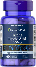 Puritan's Pride Alpha Lipoic Acid 100 mg - 60 Rapid Capsules Buy online in Pakistan on Saloni.pk