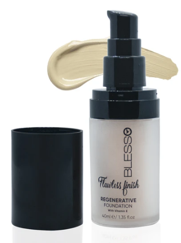 Blesso Flawless Finish Regenerative Foundation with Vitamin E - 01  Buy online in Pakistan on Saloni.pk