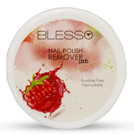 Blesso Nail Polish Removing ( Raspberry Pads )- Pack of 32 pads Buy online in Pakistan on Saloni.pk