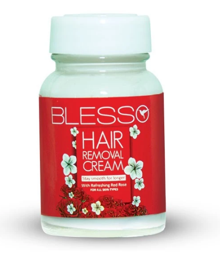 Blesso Hair Removing Cream Jar with Rose Extract Buy online in Pakistan on Saloni.pk
