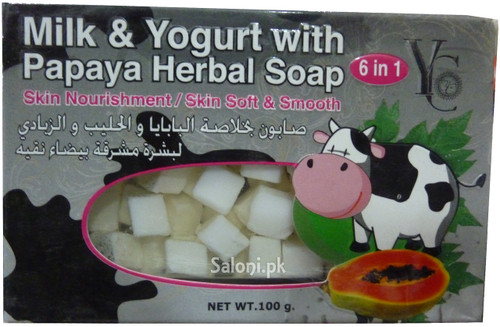 YC Milk & Yogurt With Papaya Herbal Soap Front