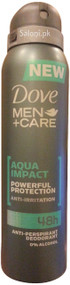 Dove Men + Care Aqua Impact Anti-Perspirant Deodorant Spray Front