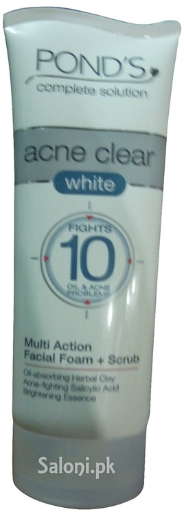 Pond's Acne Clear White Multi Action Facial Foam + Scrub Front