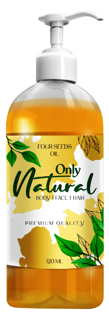 Only Natural Four Seeds Oil (Roghan 4 Magaz Oil) 250ml Buy online in Pakistan on Saloni.pk