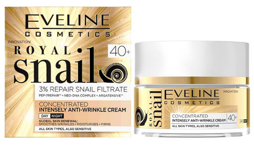 Eveline Royal Snail Concentrated Intensely Anti-wrinkle Cream 40+ - 50ml Buy online in Pakistan on Saloni.pk