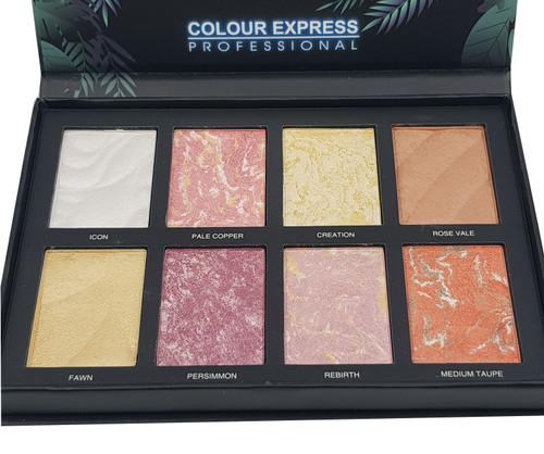 Color Express Beauty ( 8 Color ) Baked Blush - ( A ) Buy online in Pakistan on Saloni.pk