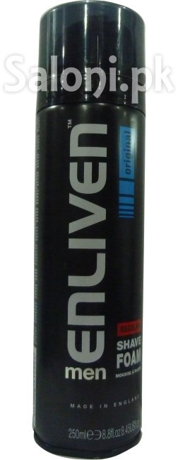 Enliven Men Regular Shave Foam Original (Front)